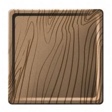 木质的木盘子插画