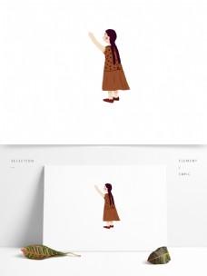 简约暖色日系女孩元素设计