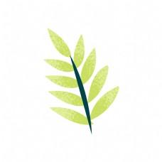 卡通绿色植物树叶