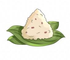 掰开的红豆粽子插图