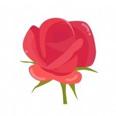 手绘卡通玫瑰花插画