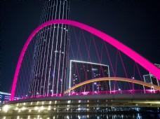 跨河大桥夜景高清图片