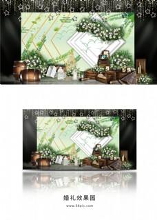 绿色系小清新风格婚礼效果图
