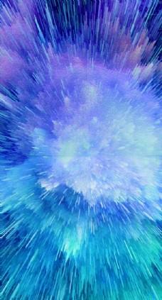 大气星空喷射背景