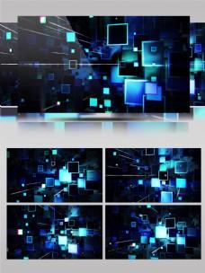 几何空间方块扩散科技舞台led背景