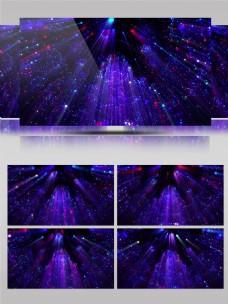 4K炫酷紫色粒子扫光舞台led背景视频