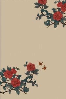 复古中国风工笔画海报