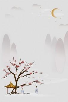 复古风灰色背景banner海报