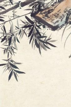 中国风复古工笔画海报背景