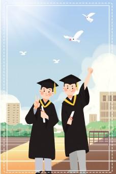毕业季学生校园背景