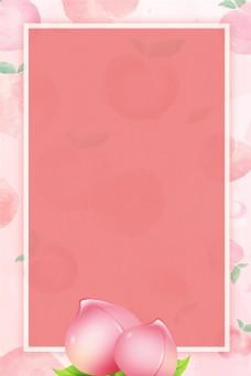 五月水果桃子背景素材