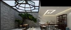 新中式茶室效果图3D模型