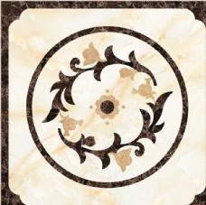 中式客廳拋晶磚拼圖地毯圖案