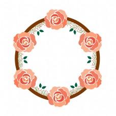 粉色花朵边框PNG