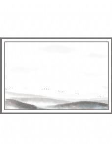 二十四节气寒露远山边框