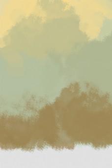 黄色棕色咖啡色水彩渐变背景图