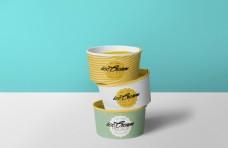 冰淇淋雪糕包装盒模板贴图样机
