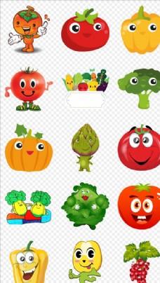 卡通可爱蔬菜小人PNG素材