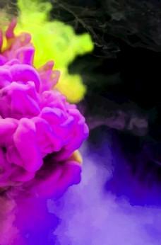 彩色烟雾背景
