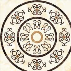 欧式大理石纹拼花地毯