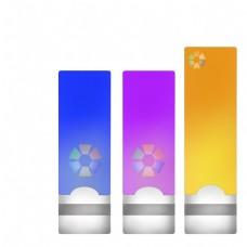 数据收集展示彩色优盘ppt图标png免抠图