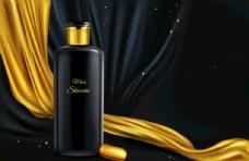 黑色幕布化妆品海报背景素材
