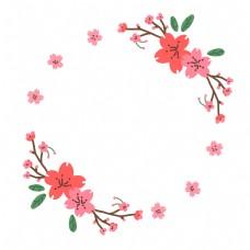 装饰花卉邀请函边框