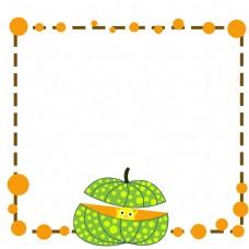 绿色南瓜边框插画