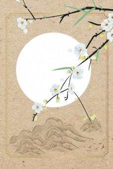 工笔画中国风花卉古风背景