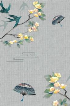 中国风古风工笔画古典背景