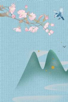 古典中国风工笔画古风背景海报