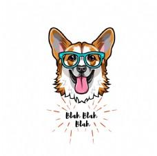 可爱小狗卡通形象