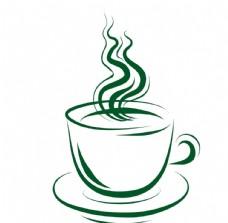 咖啡杯线条