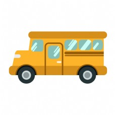 黄色的汽车装饰插画