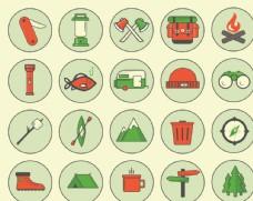 野外露营工具图标