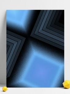 原创黑蓝色线条光效渐变科技背景图