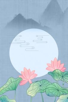古典中国风中式工笔画花卉传统海报