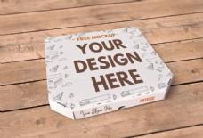 披萨包装盒模板贴图样机