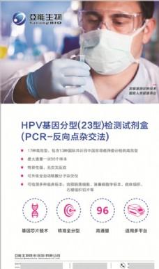 亚能生物HPV基因检测展板