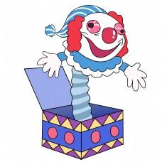 愚人节惊吓小丑插画