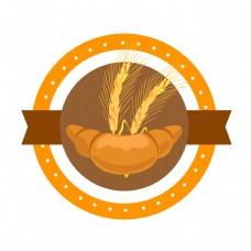 黄色圆形麦穗插图
