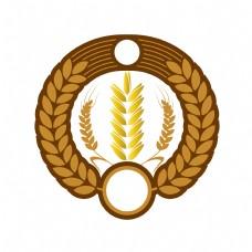 圆形图案麦穗插图