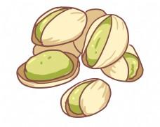 白色坚果开心果插图