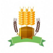 立体麦穗图案插图