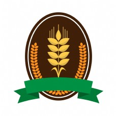 棕色圆形麦穗插图