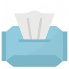 蓝色包装抽纸插画