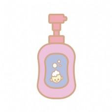 婴儿用品沐浴露插画