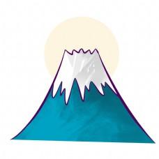 卡通日本富士山插画