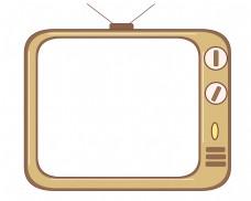 古老的电视机边框