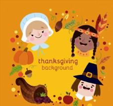 3个可爱感恩节人物头像